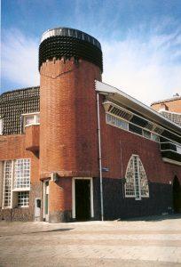 Toren met verticale bakstenen, Het schip